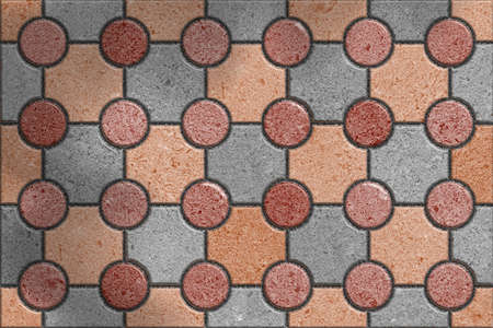 truncated: Tracery Gray and Brown Paving Slabs