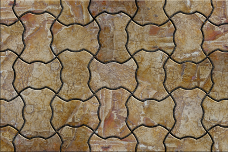 truncated: Brown Wavy Paving stone Stacking