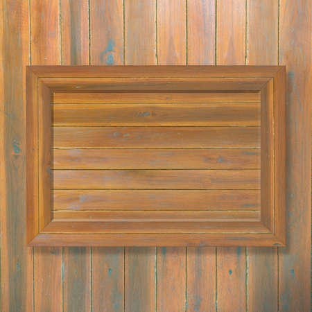 wooden wall: Wooden frame on wooden background