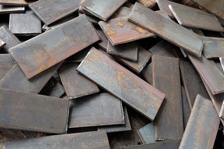 scrap iron: Iron, Stack of scrap steel.