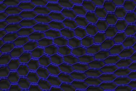 mesh fence: Blue metal mesh fence Stock Photo