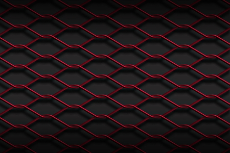 mesh fence: Red metal mesh fence