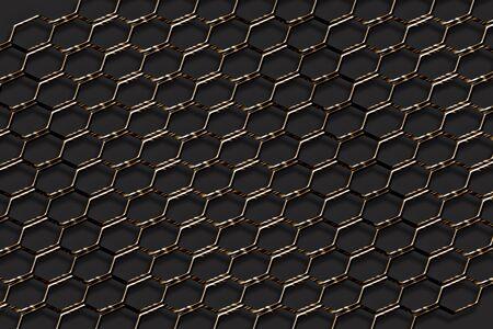 malla metalica: valla de malla metálica Foto de archivo