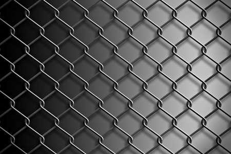 mesh: Metal mesh fence