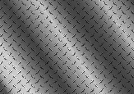 ironworks: background of metal diamond plate Illustration
