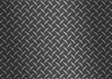 background of metal diamond plate Stock Illustratie