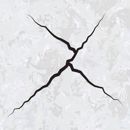 marble stone: Cracked marble stone background Illustration
