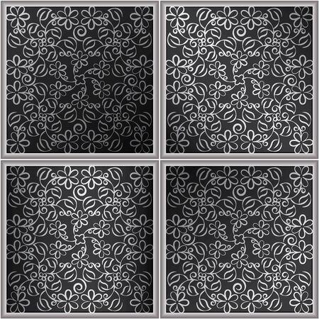 Tile decorative pattern ornament.