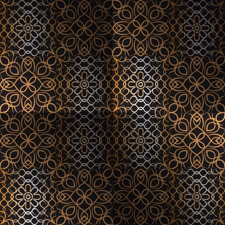Abstract pattern decorative elements on background Ilustracja