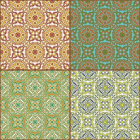 Tile decorative pattern ornament.