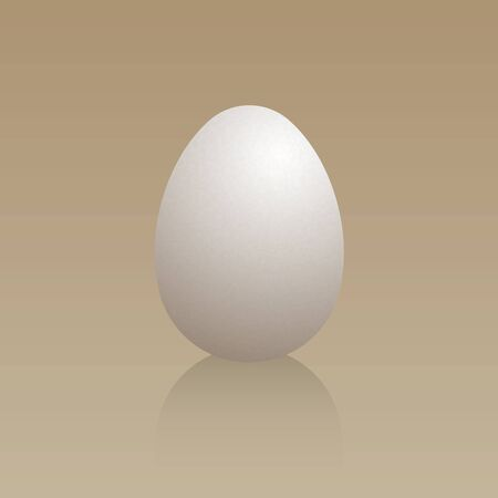 Egg on a brown background.