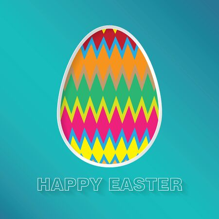 Easter background with patterned egg Ilustracja