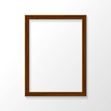 Wooden frame on wall. Иллюстрация