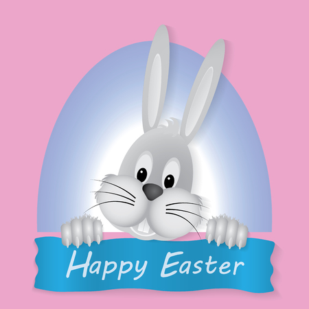 Happy Easter Bunny Rabbit Vector