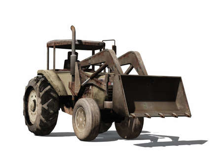 tractor wheel loader Stock Photo