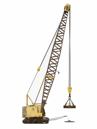 undercarriage: Crawler crane Stock Photo