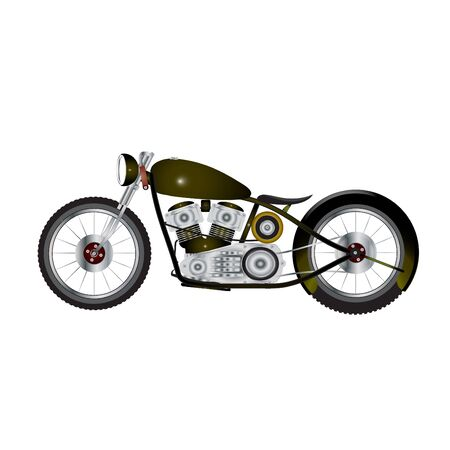 chopper: chopper motorcycle Illustration
