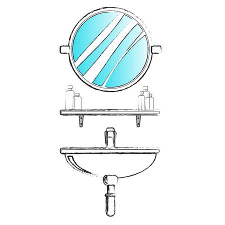 simple cross section: bathroom Illustration