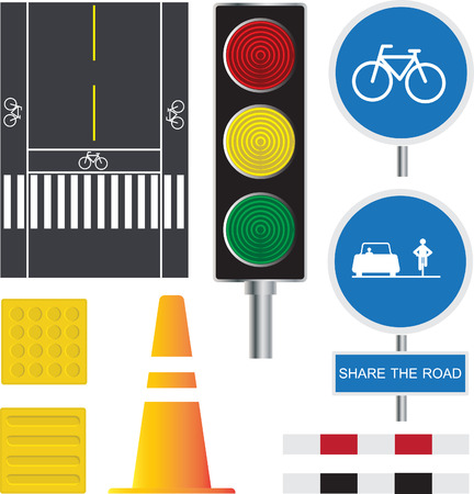 traffic road Ilustração