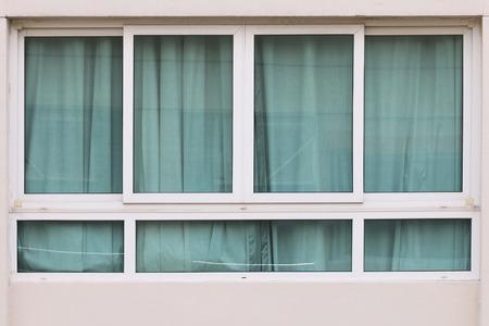 aluminium: windows aluminium Stock Photo