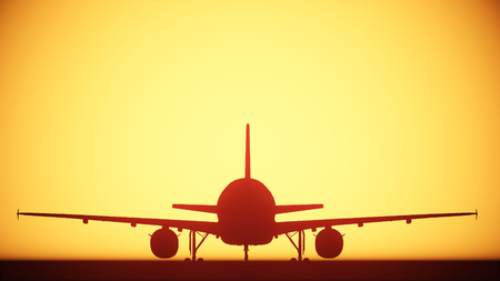 air plane silhouette light photo