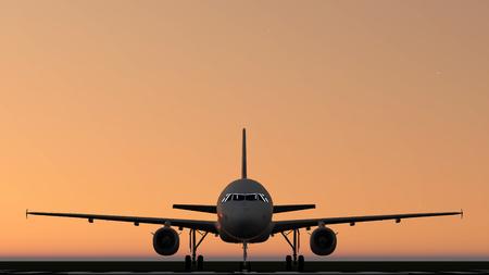 air: air plane silhouette light Stock Photo