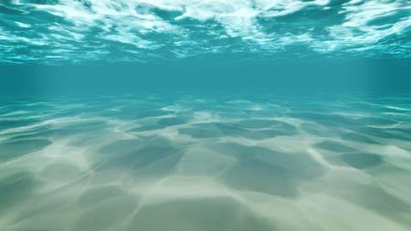 under ,water , background,sea,ocean,deep,blue,light,sand Stock Photo