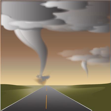 afterglow: tornado Illustration