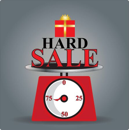 hard: hard sale Illustration