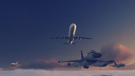 escort: escort airliner