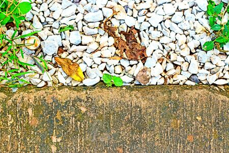 gravel: gravel and concrete background