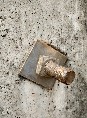 colum: bolt in concrete colum Stock Photo