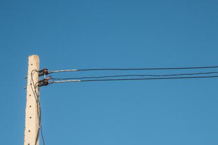 radiogram: electricity post Stock Photo