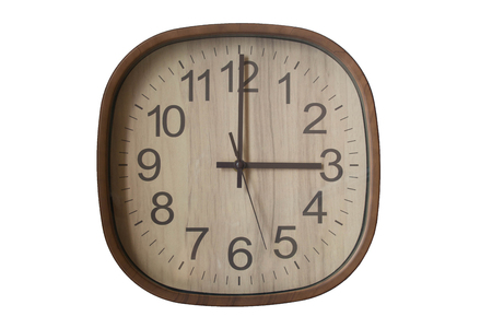 pm: clock vintage  15.00 pm Stock Photo