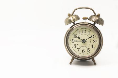 reloj despertador: alarma de reloj retro Foto de archivo