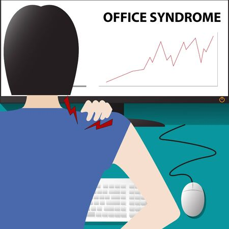 office syndrome Vector Illustration