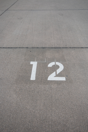 number 12: concrete road number 12 Stock Photo