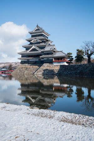 matsumoto: Matsumoto Castle in japan. morning time in winter season Editorial