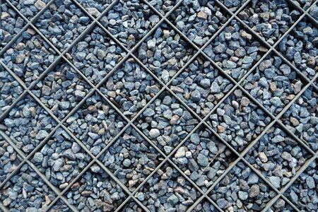 gabion mesh: Stone steel mesh floor design outdoor