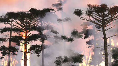 wild fire: wild fire 3d rendering