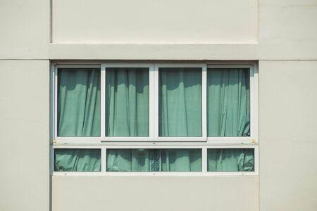 aluminum: window aluminum Stock Photo