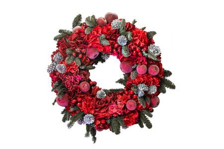 coronas de navidad: Coronas de Navidad aislado fondo blanco Foto de archivo