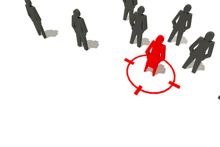 people business target concept Stock Photo