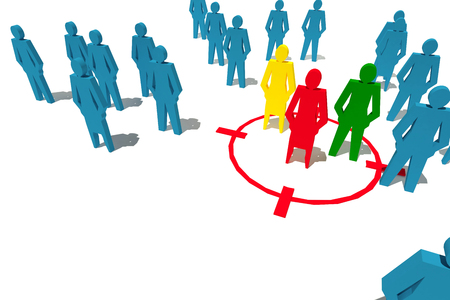 people business target  group concept