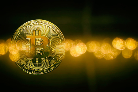 bitcoin  money  electronic gold  background Zdjęcie Seryjne
