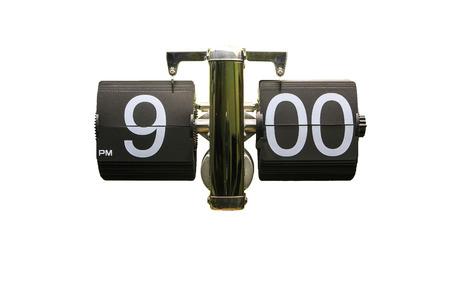 21 フリップ クリッピング パスと分離された時計ホワイト バック グラウンド