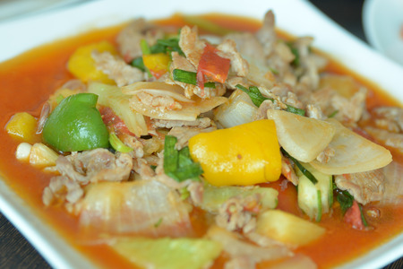 sweet and sour: Sweet & Sour Pork Stock Photo