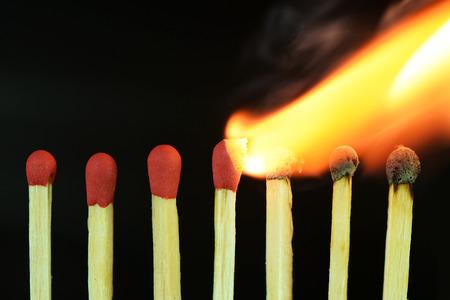 flames background: burning matches