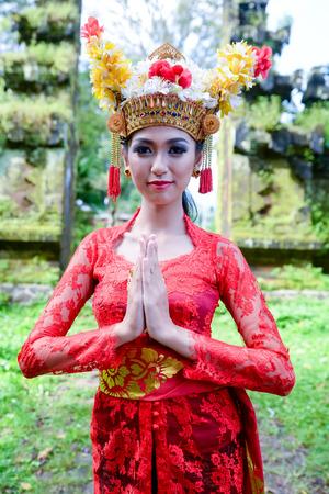 balinese: Balinese woman praying