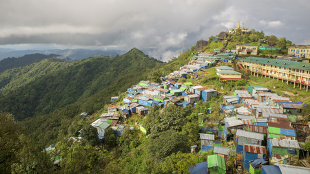Mountain village, Myanmar Reklamní fotografie